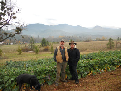 Steve and Patricia Florin Against the Mountains