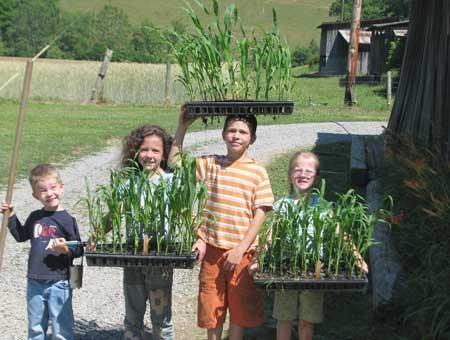 Smythe kids ready to plant