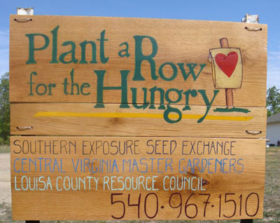 plant a row for the hungry in Louisa